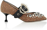 Miu Miu Women's Embellished-Buckle Tweed Pumps