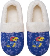 Unbranded Women's Kansas Jayhawks Ugly Knit Moccasin Slippers