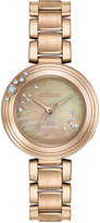 Citizen Women's Carina Diamond Accent Rose Gold-Tone Stainless Steel Bracelet Watch 28mm EM0463-51Y