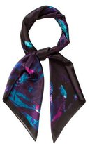 Erdem Abstract Print Silk Scarf w/ Tags