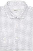 Perry Ellis Slim Fit Jumbled Paisley Dress Shirt
