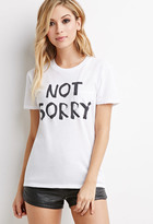 Forever 21 Not Sorry Pocket Tee