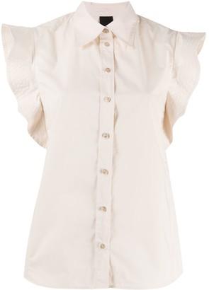 Pinko Ruffled Sleeve Regular Fit Shirt