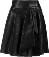 Just Cavalli Wrap-effect faux leather mini skirt