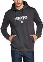 Merc of London Men's Plain or unicolor Hooded Long sleeve Hoodie - Grey -
