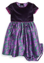 Oscar de la Renta 'Brushstroke Fleur' Mikado Party Dress (Baby Girls)