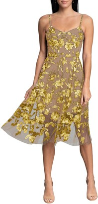 Dress the Population Uma Floral Embroidered Lace Cocktail Dress