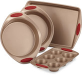 Rachael Ray Cucina 4-Pc. Cranberry Red Nonstick Bakeware Set