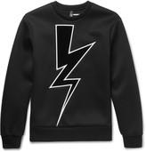 Neil Barrett Appliquéd Bonded Jersey Sweatshirt