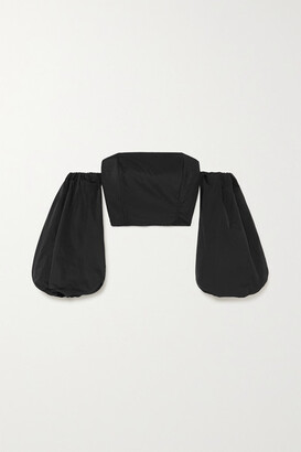 AVAVAV Convertible Off-the-shoulder Poplin Top - Black