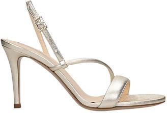 Fabio Rusconi Sandals In Platinum Leather
