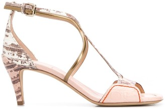Chloé Python-Effect Strappy Sandals