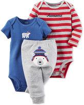 Carter's Baby Boys' 3-Pc. Polar Bear Bodysuits & Pants Set