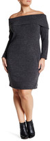 Loveappella Off-The-Shoulder Body Con Dress (Plus Size)