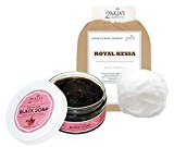 8 Oz Moroccan Black Soap - Rose Blossom - The Healing Soap With Kessa Exfoliating Glove