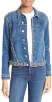 L'Agence Women's Studded Denim Jacket