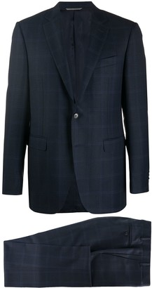 Canali Patterned Single-Breasted Suit