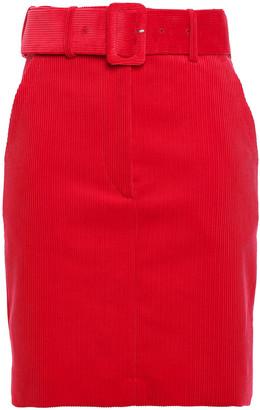 Sandro Belted Cotton-corduroy Mini Skirt