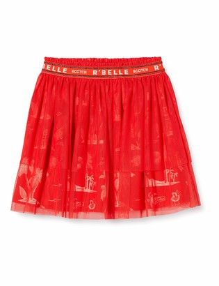 Scotch & Soda Girl's Midi Length Tule Skirt with Elasticated Waistband