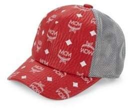 MCM Men's Visetos Mesh Cap - Red White