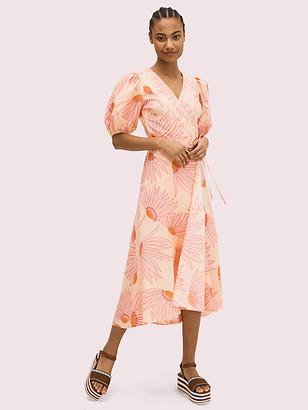 Kate Spade Falling Flower Wrap Dress