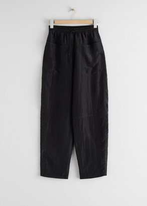 And other stories Nylon Wide Leg Drawstring Trousers