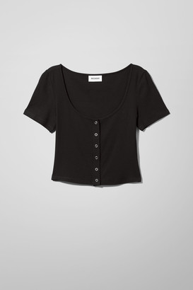 Weekday Bartola T-Shirt - Black