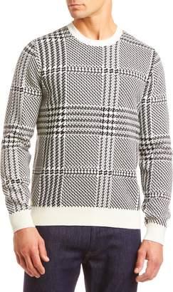Lacoste Glen Plaid Crewneck Sweater