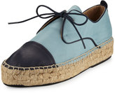 Charles David Harper Leather Espadrille Sneaker, Blue/Navy