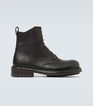 Dolce & Gabbana Leather lace-up boots