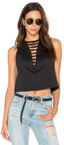 Lucca Couture Lace-Up Muscle Tank