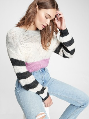 Gap Luxe Stripe Boatneck Sweater