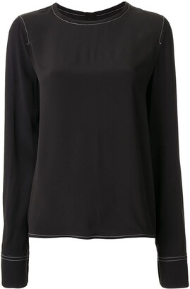 Marni Contrasting Stitch Detail Blouse