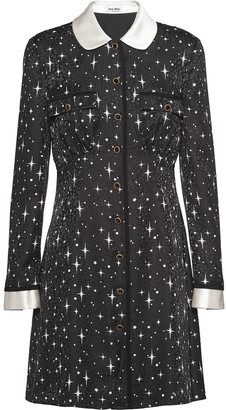 Miu Miu Star Print Mini Dress