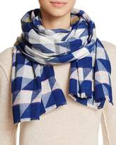 Aqua Geo Houndstooth Scarf - 100% Exclusive