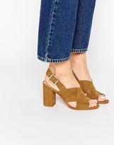 Carvela Serene Cross Strap Slingback Heeled Sandals