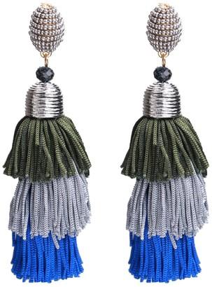 Goodnight Macaroon 'Sammi' Tassels Statement Drop Earrings (6 Colors)