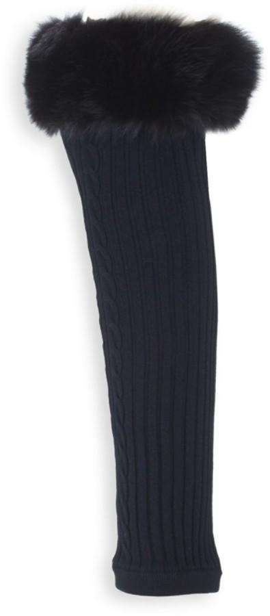 Valentino Garavani Donna Dyed Fox Fur-Trim Socks
