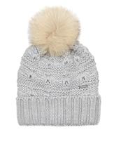 Woolrich Serenity fur-pompom wool beanie hat