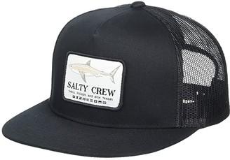 Salty Crew Farallon Retro Trucker (Black) Caps