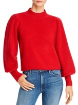 French Connection Mock-Neck Puff-Sleeve Sweater