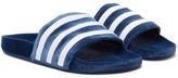 adidas Adilette Striped Velvet Slides - Blue