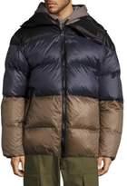 Public School Multi Gombu Puffer Hooded Down Jacket