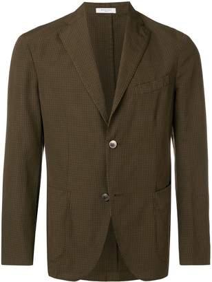 Boglioli check print blazer