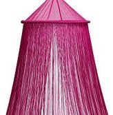 Bacati Fuschia (Bright Pink) String Bed Canopy