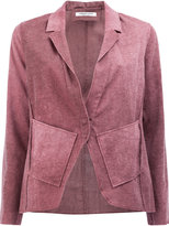 Lamberto Losani ombré long sleeve blazer - women - Cotton/Linen/Flax - L