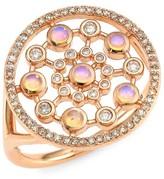 Astley Clarke 14K Rose Gold, Diamond & Opal Large Ring