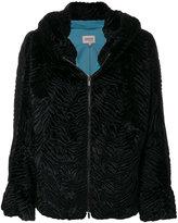 Armani Collezioni matelassé faux fur jacket