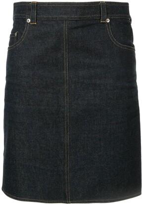 Chanel Pre Owned Straight Mini Denim Skirt