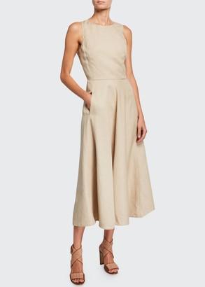 Loro Piana Nancy Linen A-Line Dress